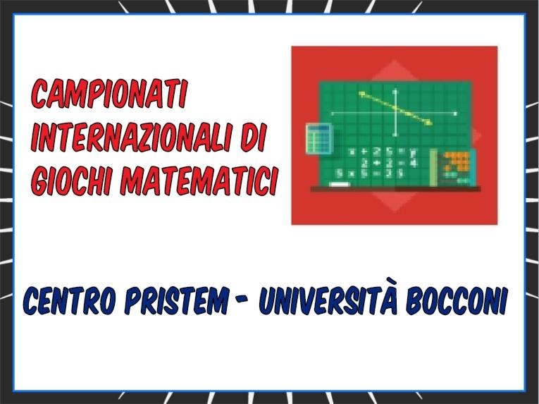Giochi Matematici Bocconi - La Finale dei Campionati 2019
